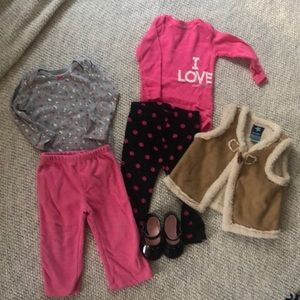 Lot of girls clothes, size 12m, Carter's